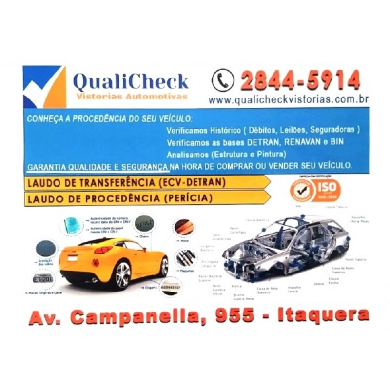 Laudos de Vistorias Veiculares Preços Jd Robru - Preço Laudo de Vistoria Automotiva