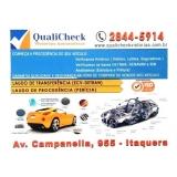 vistoria transferência de veículo preço Vila Lourdes