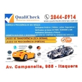 vistorias transferência de veículos Vila Carmosina